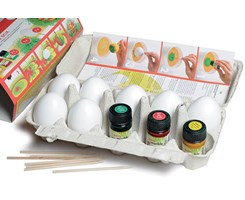 Funny Easter box 7æg 6cm, 3x15ml maling, stickers